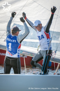 Winner of the first Star Sailors League City Grand Slam 2016 Hamburg: Bow no: 004 // Sail: FRA 8237 // Skipper: Xavier ROHART // Crew: Pierre-Alexis PONSOT